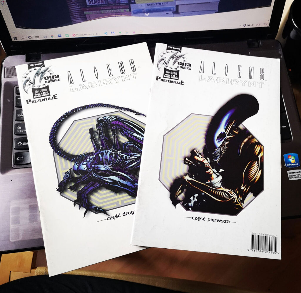 Aliens Labirynt komiks